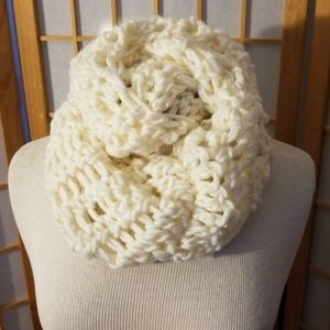 Crocheted  infinity neck scarve